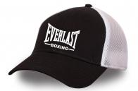 """Черная бейсболка """"Эверласт"""" с белой сеткой"""