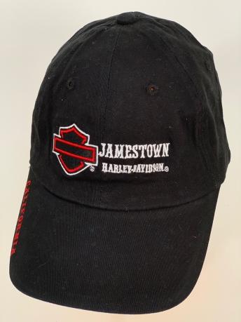 Черная бейсболка Harley-Davidson с белой надписью и черно-красной вышивкой
