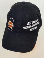 Черная бейсболка Harley-Davidson с белой надписью на боку тульи