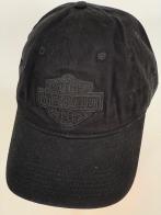 Черная бейсболка Harley-Davidson с черной вышивкой