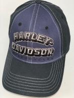 Черная бейсболка Harley-Davidson с фиолетовой вставкой на тулье