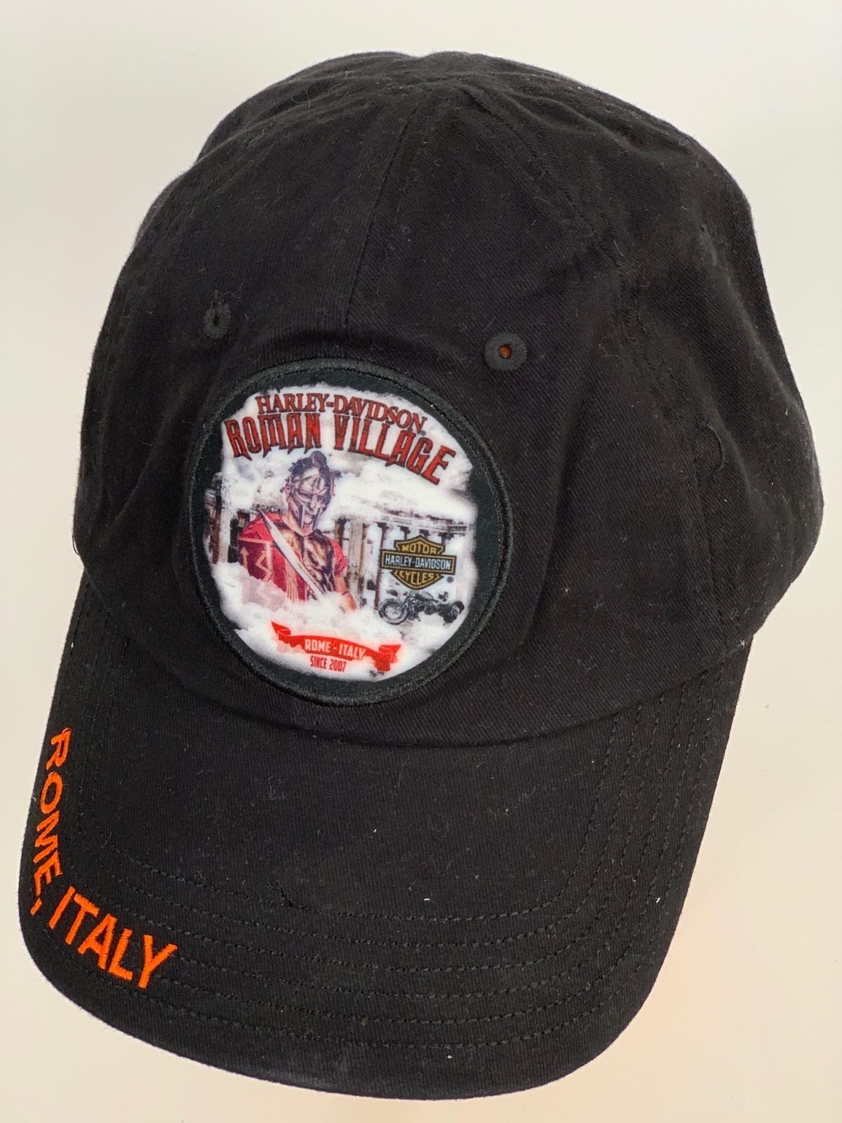 Черная бейсболка Harley-Davidson с крутой круглой нашивкой