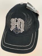 Черная бейсболка Harley-Davidson с нашивкой и принтом