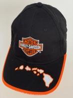 Черная бейсболка Harley-Davidson с оранжево-белой отделкой