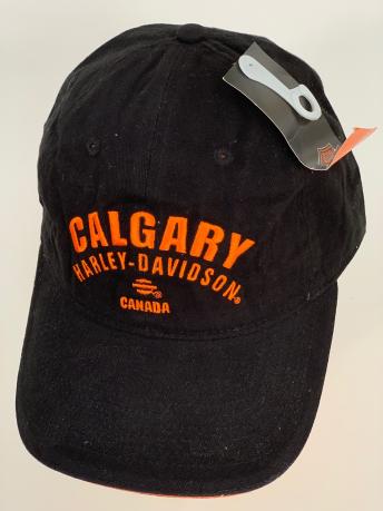Черная бейсболка Harley-Davidson с ярко-оранжевой вышивкой