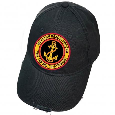 Чёрная бейсболка Морская пехота России
