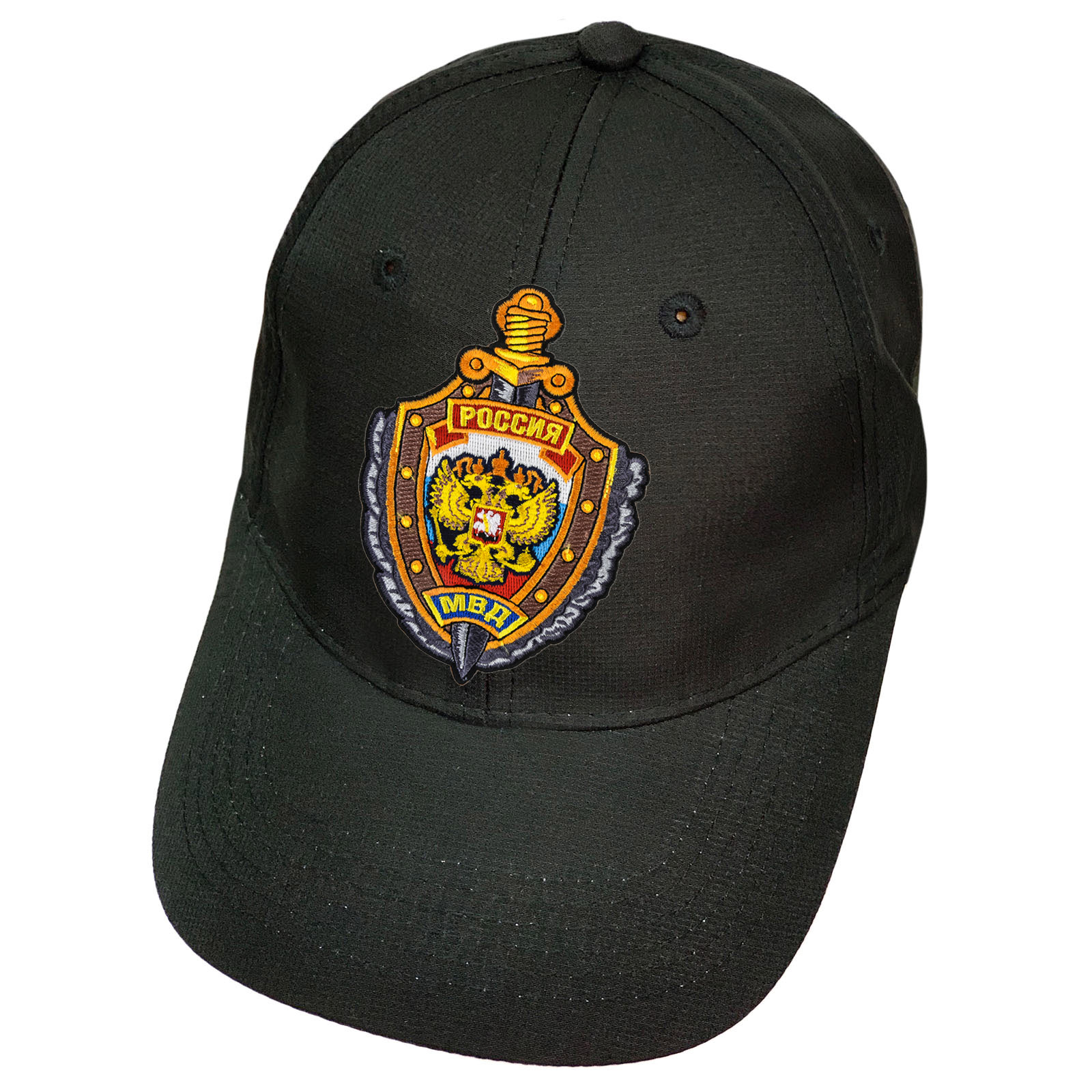 Чёрная бейсболка МВД России