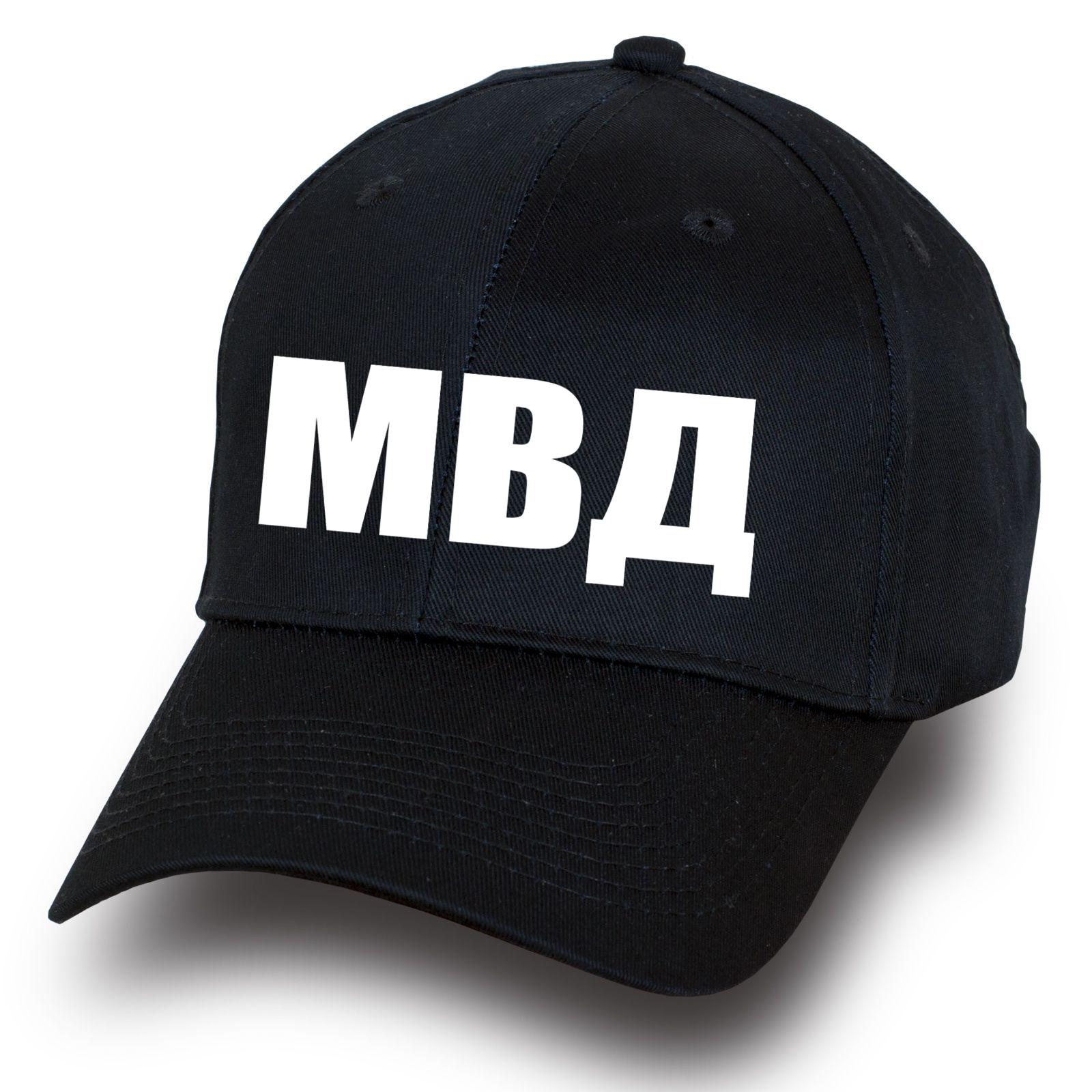 Черная бейсболка МВД