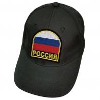 Чёрная бейсболка патриота Россия