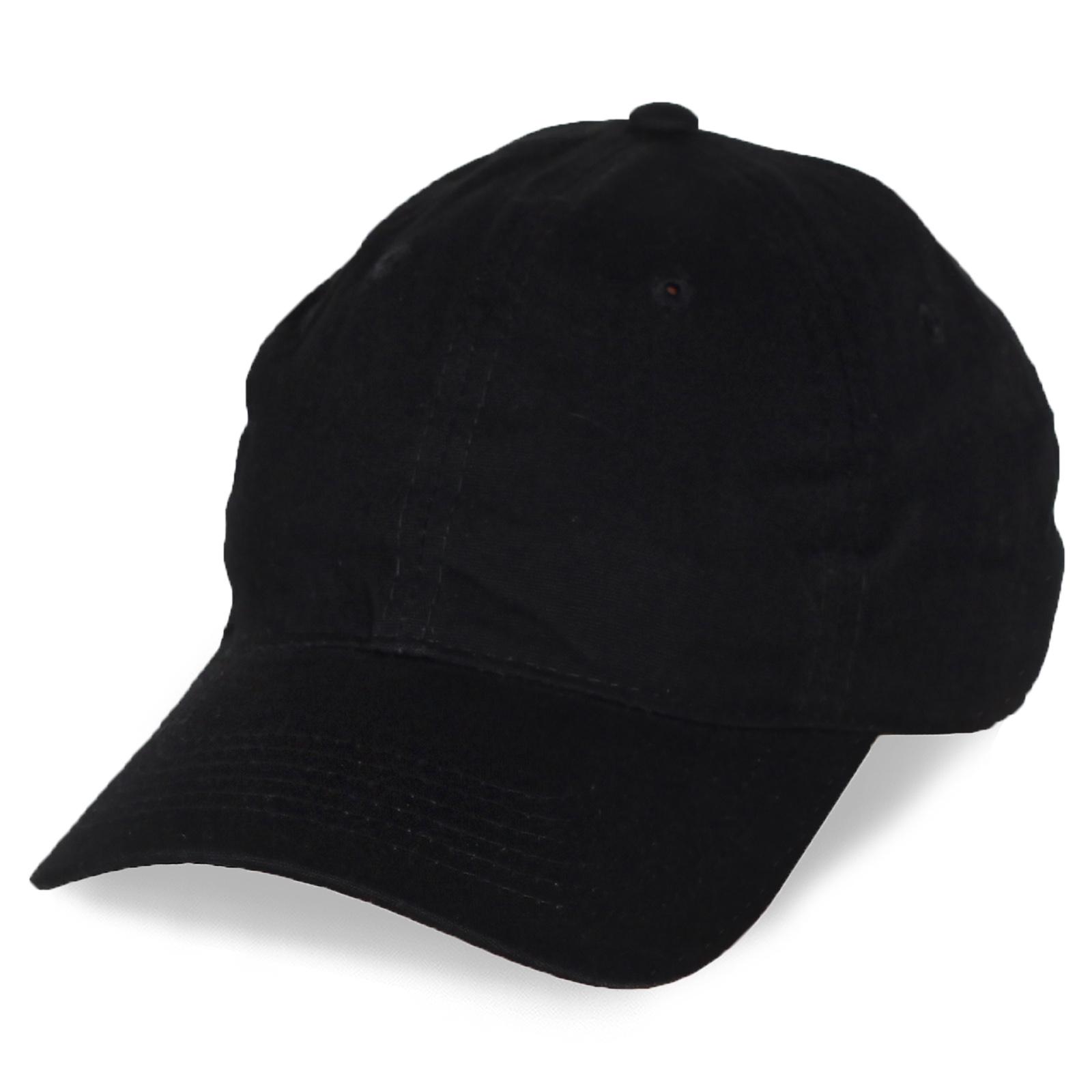 Черная бейсболка под логотип