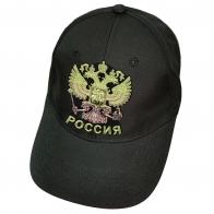 Чёрная бейсболка Россия с двуглавым орлом