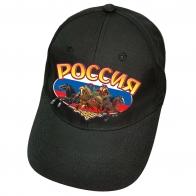 Чёрная бейсболка Россия