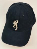 Черная бейсболка с бежево-золотистой вышивкой Browning