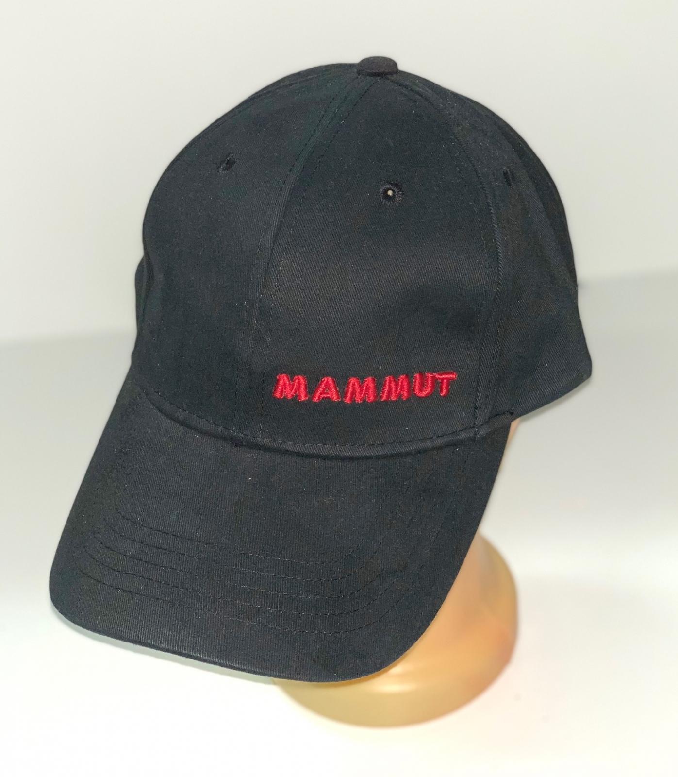 Черная бейсболка с красной вышивкой Mammut
