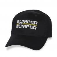 Черная бейсболка с надписью Bumper To Bumper.