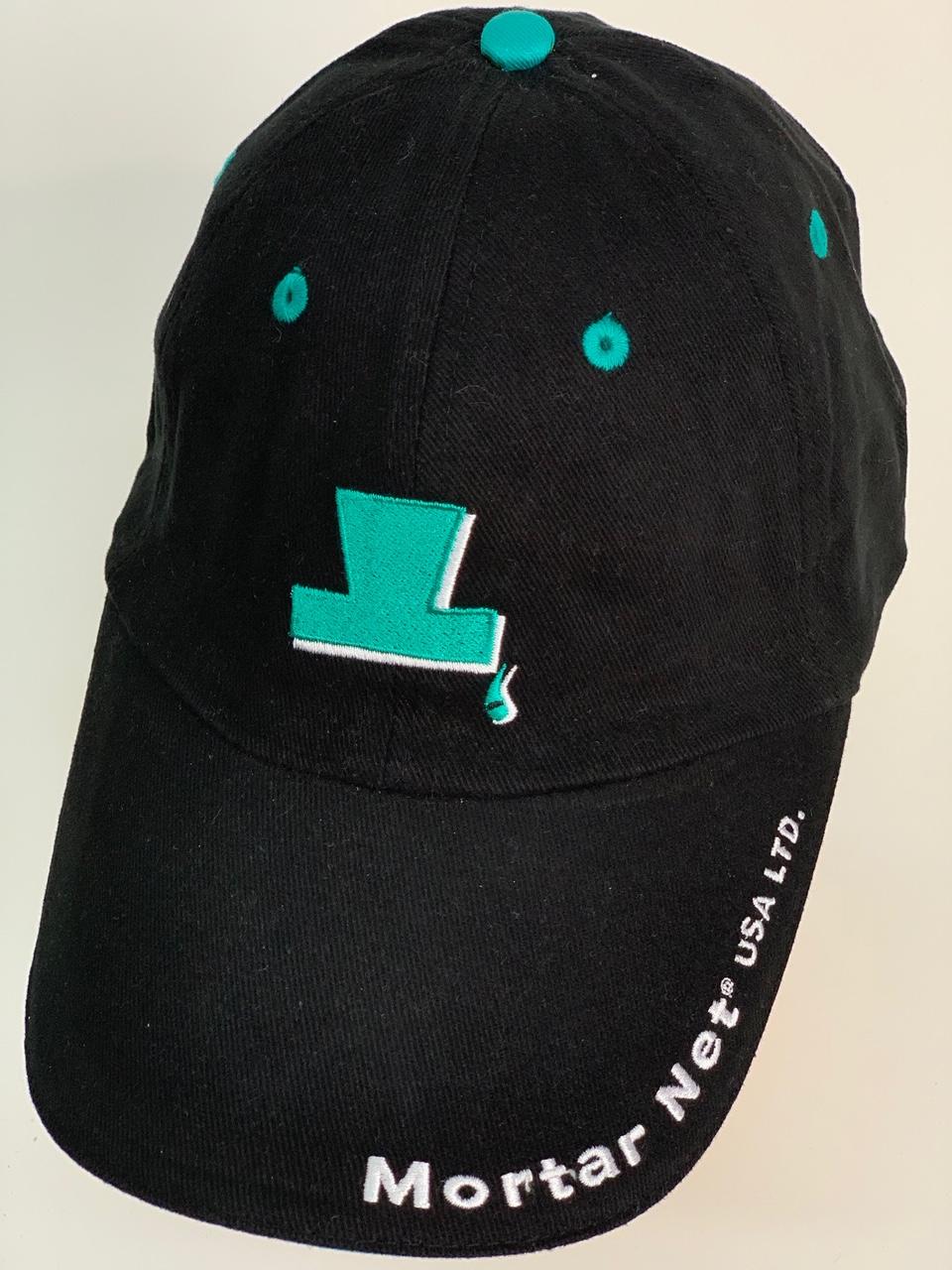 Черная бейсболка с надписью Mortar Net USA LTD