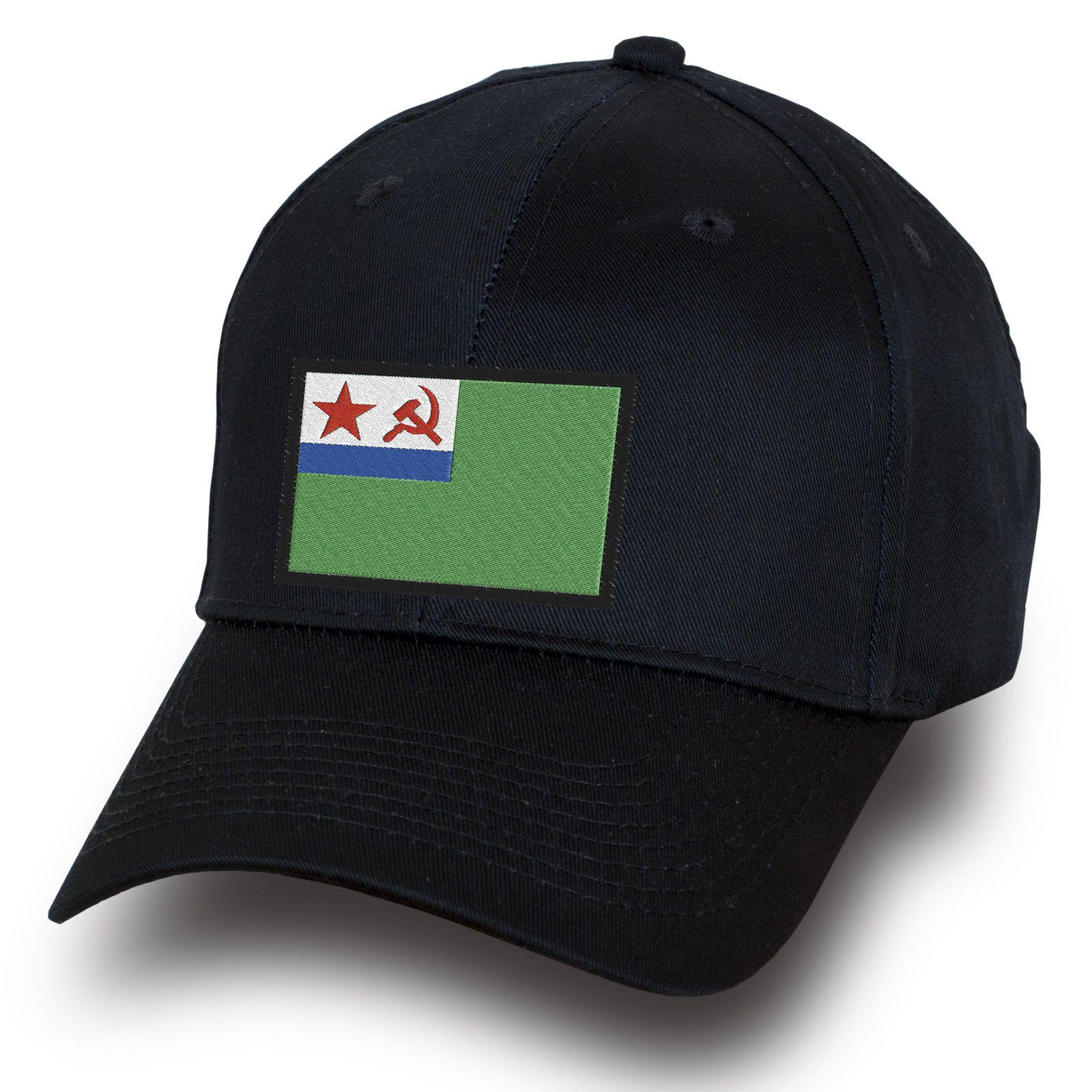 Черная бейсболка с нашивкой МЧПВ СССР - купить с доставкой