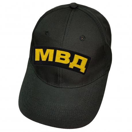 Чёрная бейсболка с нашивкой МВД