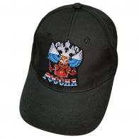 Чёрная бейсболка с нашивкой Россия