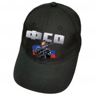 Чёрная бейсболка с термотрансфером ФСО