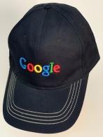 Черная бейсболка Google