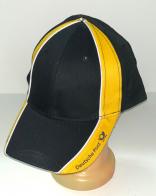 Черная бейсболка с желтыми вставками