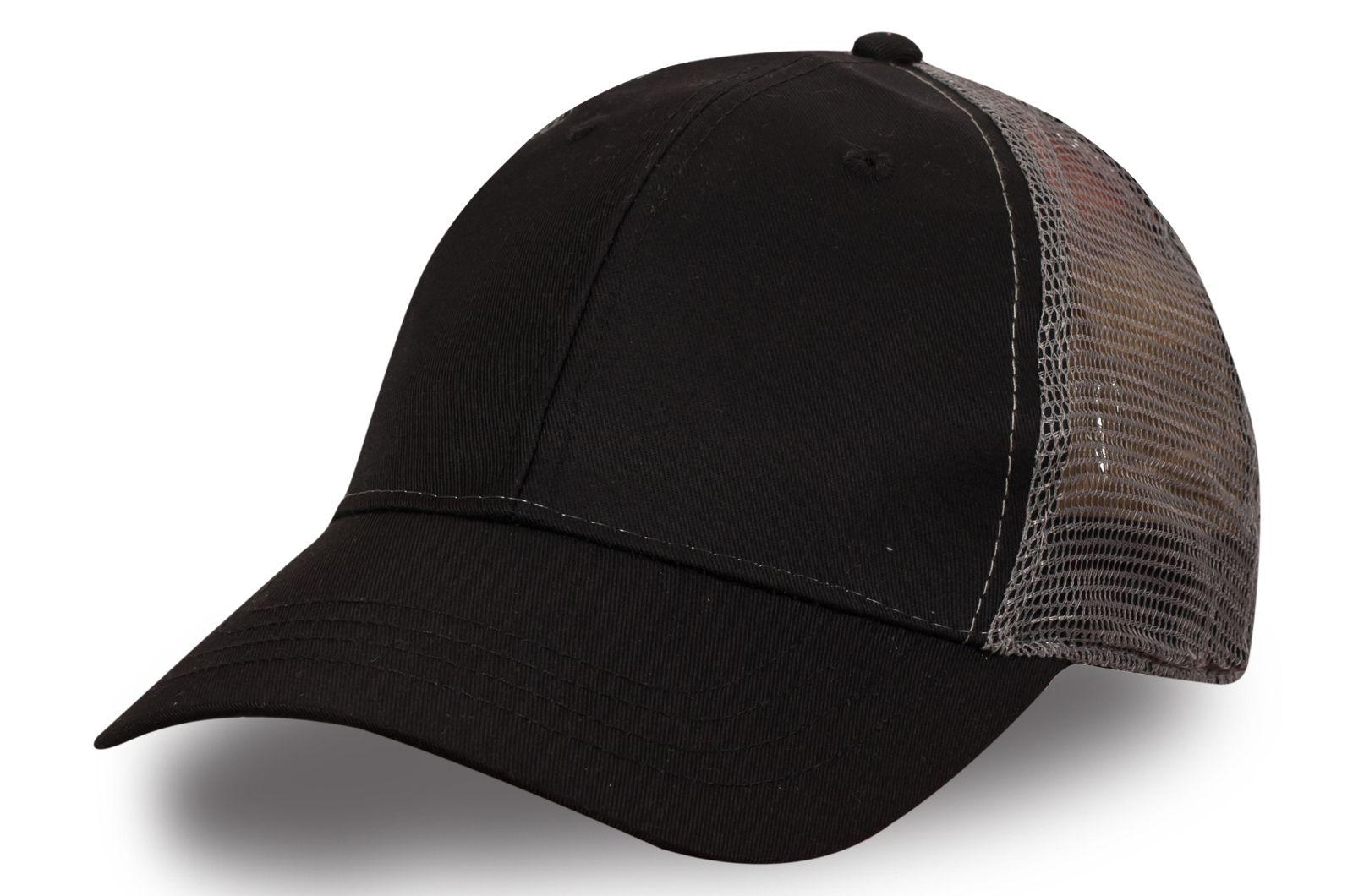 Чёрная бейсболка сетчатая - купить по лучшей цене