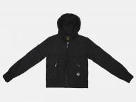 Черная демисезонная куртка с капюшоном от Big Rooster (США)