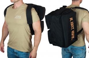 Черная дорожная сумка-рюкзак Эх, хвост, чешуя - заказать онлайн