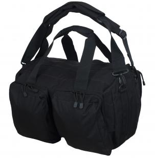 Черная дорожная сумка-рюкзак Эх, хвост, чешуя - заказать оптом