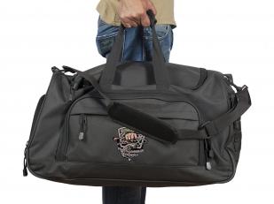 Черная дорожная сумка с тематической нашивкой для рыбаков купить онлайн