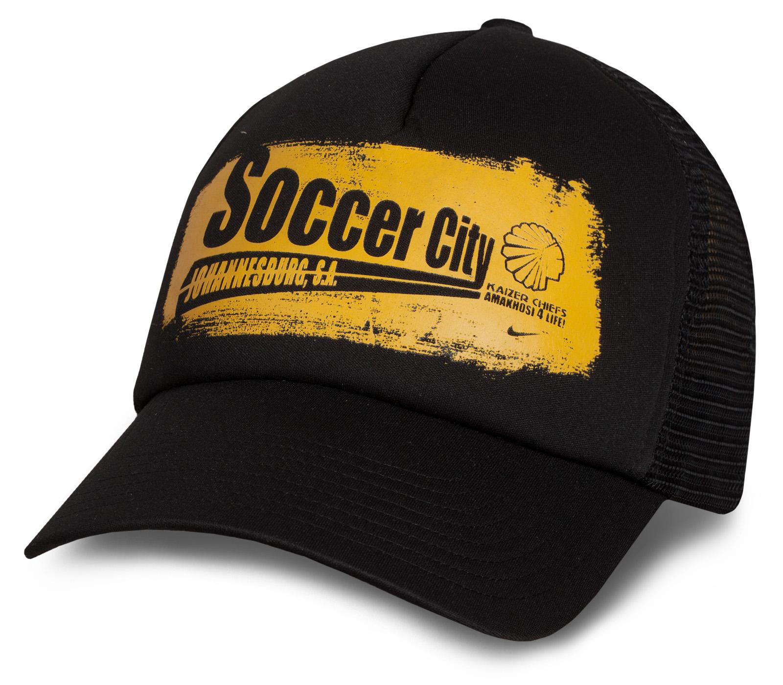 Черная фирменная бейсболка Soccer City