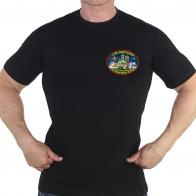 Чёрная футболка 110 Чукотского погранотряда