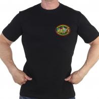 Чёрная футболка 40 Октемберянский пограничный отряд