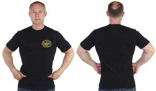 Чёрная футболка 48 Пянджский пограничный отряд