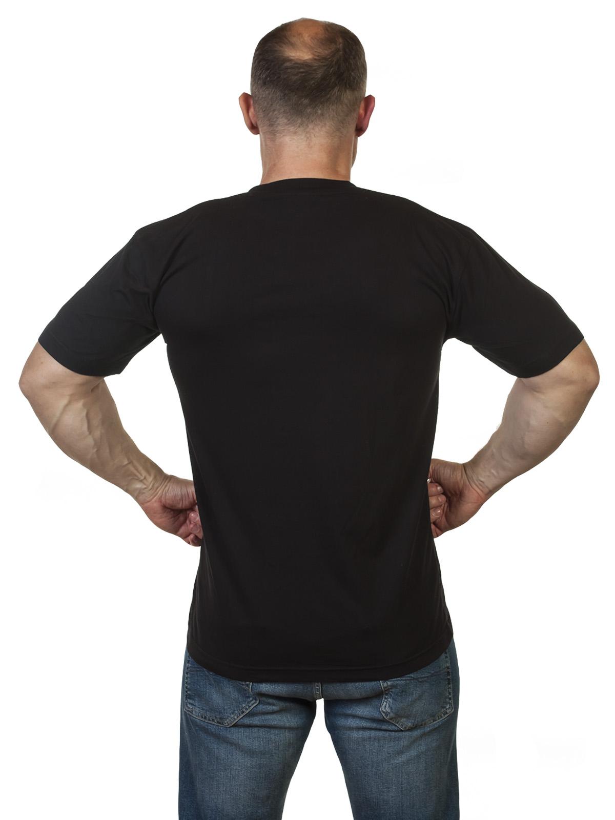 Черная футболка с надписью Армия России по выгодной цене