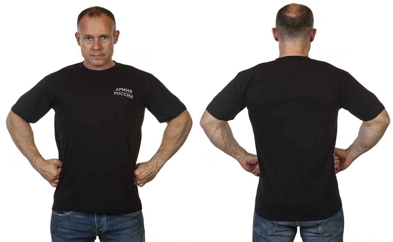 Черная футболка с надписью Армия России с доставкой