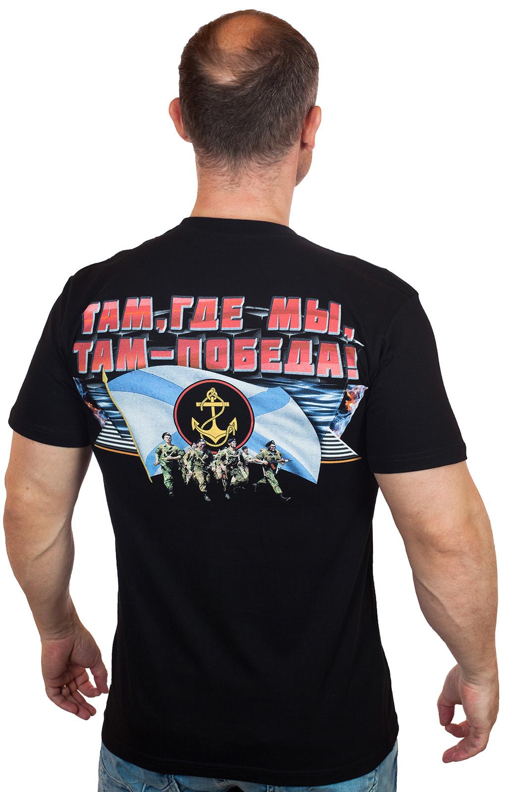 """Черная футболка """"Морская пехота"""" отменного качества"""