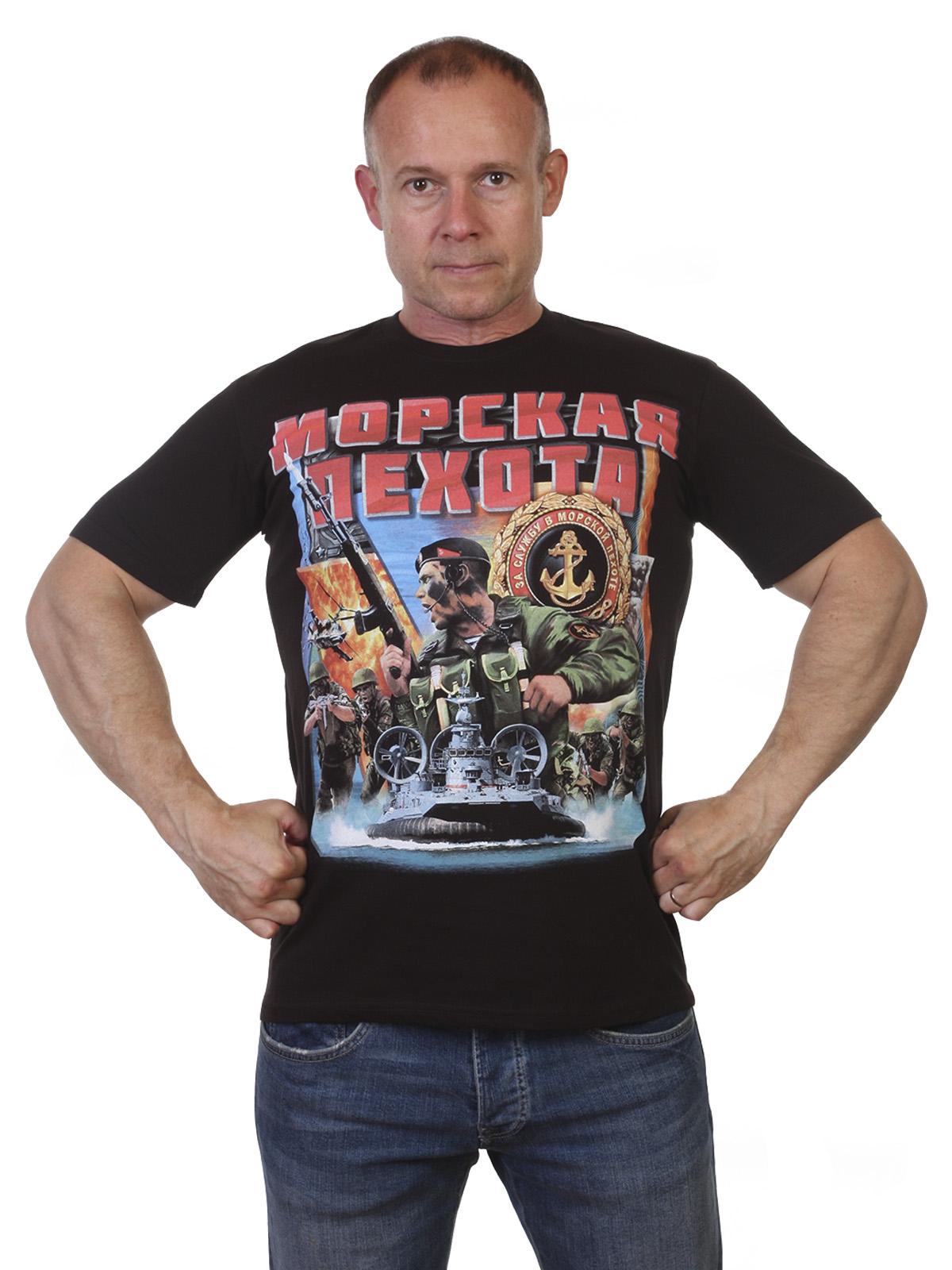 Черная футболка Морская пехота