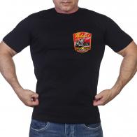 Черная футболка Победа (Салют, Кремль, Рейхстаг, солдат, вечный огонь)