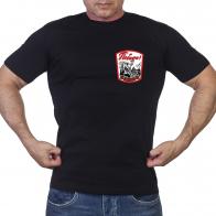 Черная футболка Победа (солдат на фоне Кремля и Рейхстага)