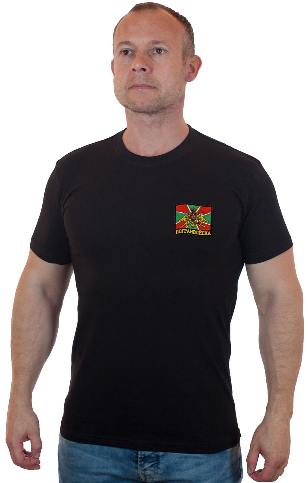 Купить с доставкой по России футболку с эмблемой Погранвойск