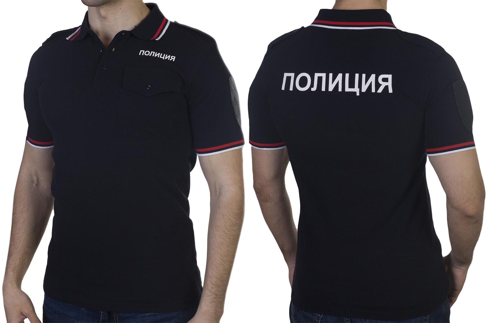 Мужские полицейские футболки с воротником