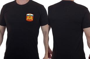 Черная футболка с гербом России