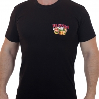 Купить черную футболку с коротким рукавом