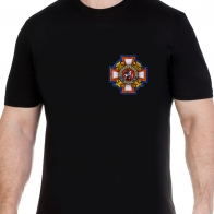 Черная футболка с нашивкой Потомственный казак