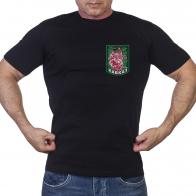 Черная футболка с принтом Кавказ