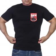 Черная футболка с принтом Участник парада