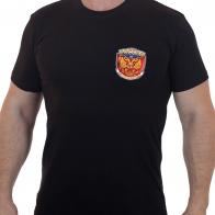 Купить черную футболку с Российским гербом