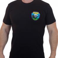 Чёрная футболка с термоаппликацией ВДВ